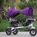 Frete Grátis Jin Ming filhos gêmeos triciclo duplo impulso da mão bicicleta assento two-way carrinho de bebê fabricantes que vendem