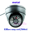 Free shipping Effio-e  sony ccd 700TVL 24 LED IR Wired CCTV Night Video Security Camera