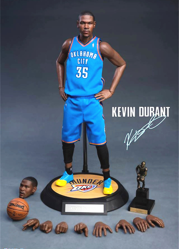 [Limited] Basketball star Kevin Durant NBA Golden State Warriors No.35 MVP Action Figure Toys 1/6 34cm PVC Collection Model gift hot sell free shipping seraph of the end krul tepes pink long clip ponytail cosplay party wig hair