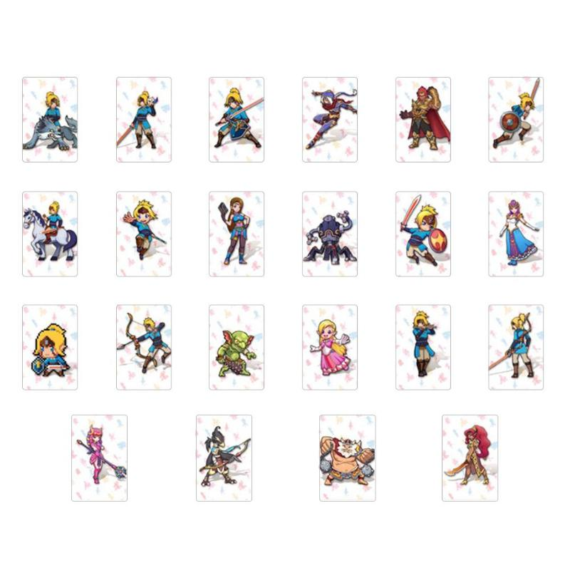 22Pcs NTAG215 <font><b>NFC</b></font> Tag Game <font><b>Cards</b></font> For <font><b>amiibo</b></font> Game the Legend of Breath of the Wild Mini <font><b>Card</b></font> For Nintend <font><b>Switch</b></font> NS image