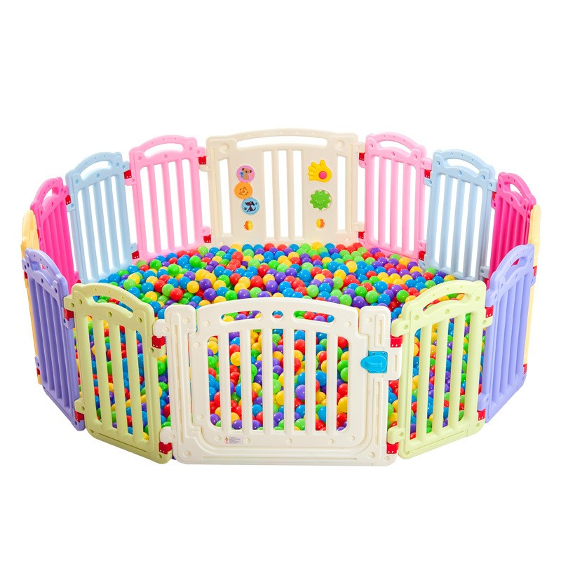 Hot Safe Baby Playpens Baby Toddler Learning Walking Activity Protection Fence Kids Child Play Fence Can Mix Colors
