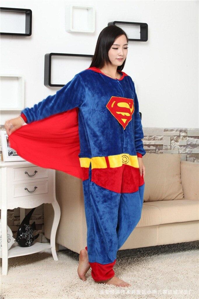 175f51a2b7 Adult Onesie Superman Superhero Pajamas Unisex Pyjamas Captain ...