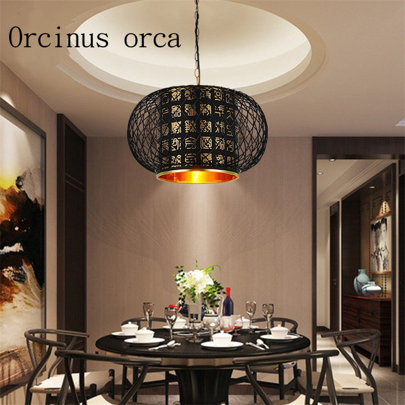 New Chinese Style Antique Iron Chandelier Restaurant Teahouse Living Room Corridor Creative Chandelier Free Shipping