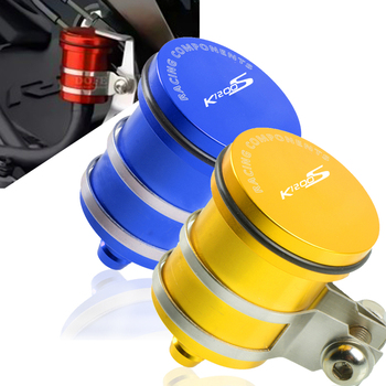 Motorcycle CNC Rear Brake Fluid Reservoir Clutch Tank Cylinder Master Oil Cup Cover for bmw K1200S 2005 2006 2007 2008 image