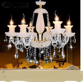 restaurant fashion crystal lamp FREE SHIPPING EMS rustic crystal pendant light luxury living room lamps lighting NEW ZCL ems free shipping fashion pendant light cloth lamp cover crystal pendant light wrought iron candle lamp rustic lighting bq6 3