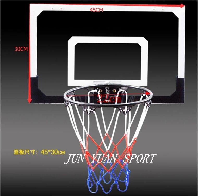 Haute qualité! Mini anneau Transparent de cerceau de jeu de filet de Basket Ball avec le panier de boule cadeau de jouet d'intérieur d'amusement