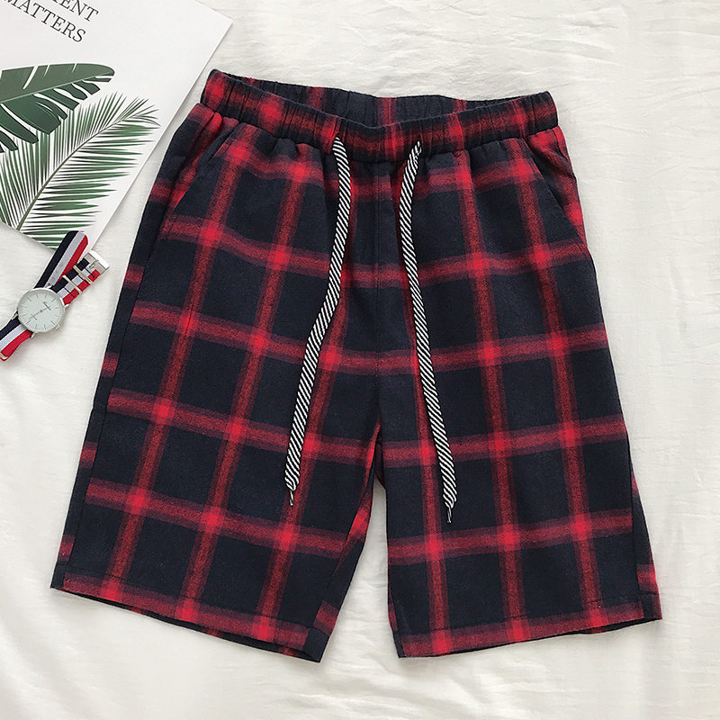 Men Shorts Camo Lattice Fashion Casual Size Plaid Leisure Low-Price High-Quality S-3XL