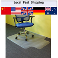 1PC Lipped Office Chair Desk T-Shaped Carpet Protector Mat PVC Clear With Grips