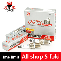 4pcs Lot China Original TORCH Double Iridium Spark Plugs K6II For BRILLIANCE M1 BYD S6 GEELY