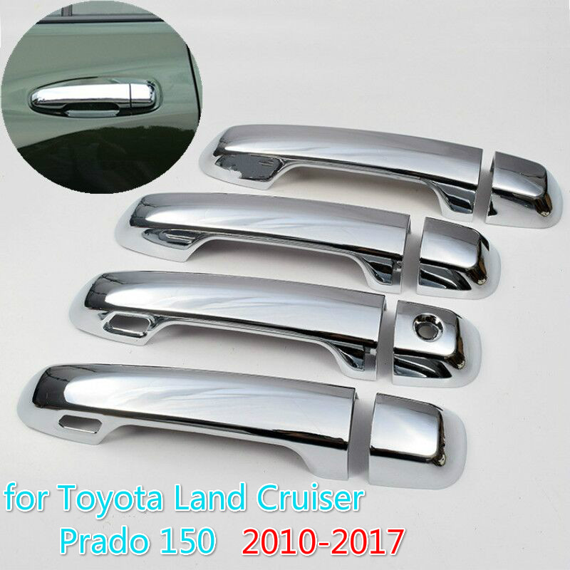 FUNDUOO For Toyota Prado 150 Land Cruiser Prado J150 2010 - 2019 LC150 2013 2015 Chrome Door Handle Cover Trim Set Car Styling