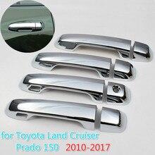 FUNDUOO For Toyota Prado 150 Land Cruiser Prado J150 2010 - 2019 LC150 2013 2015 Chrome Door Handle Cover Trim Set Car Styling