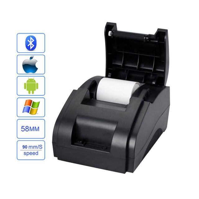 Impresora de recibos Bluetooth 58mm pos impresora térmica USB + Bluetooth