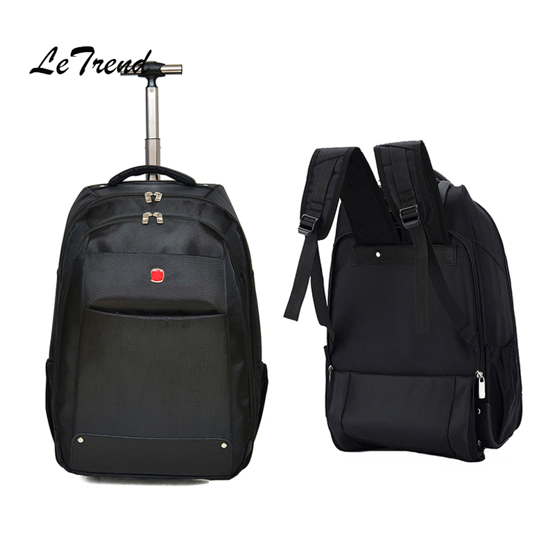 Letrend New Fashion Business Travel Bag Men Carry On Capacity Backpack Women Rolling Luggage Trolley Bag Boarding Box Trunk new fashion eva scooter rolling luggage women red trolley 20 boarding box men carry on travel bag student suitcase card trunk