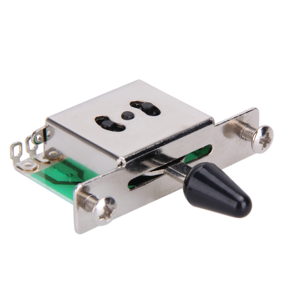 Colorful 5 Way Electric Guitar Pickups Toggle Selector Switch Parts Chrome With Knob Guitar Parts Accessories lipstick tube pickups gold chrome black single coil vintage pickup for electric guitar parts accessories