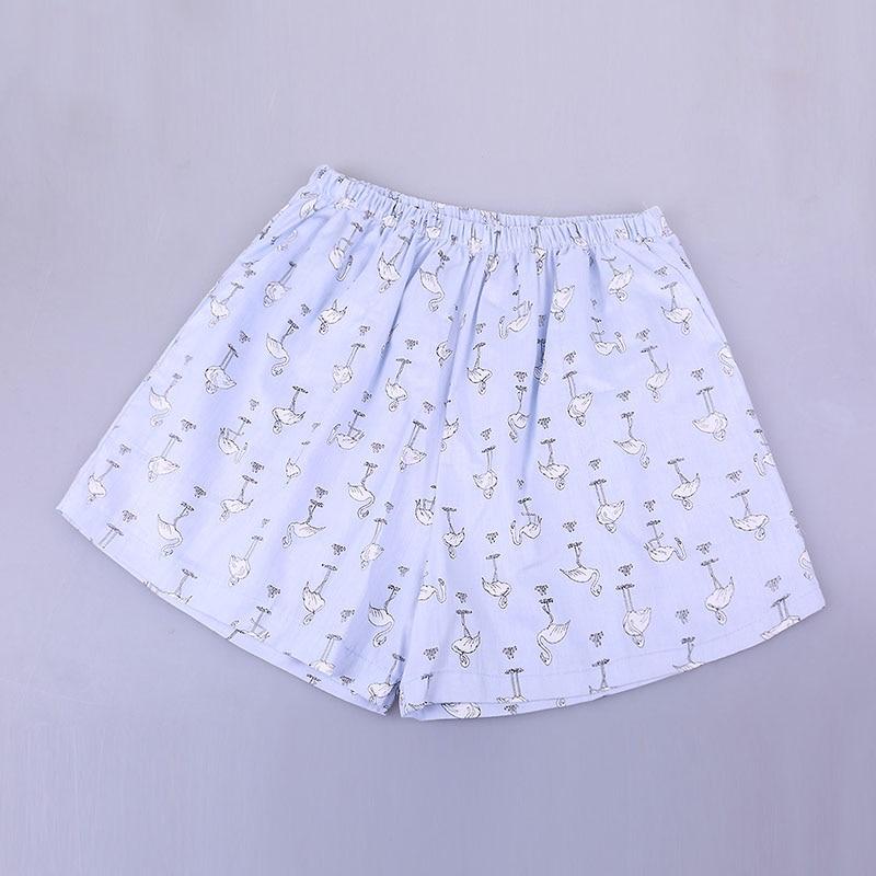 UNIKIWI. Милые летние хлопковые Пижамные шорты для сна, женские свободные пижамные штаны с эластичной резинкой на талии размера плюс M-XL отдыха. 21 цвет - Цвет: 011