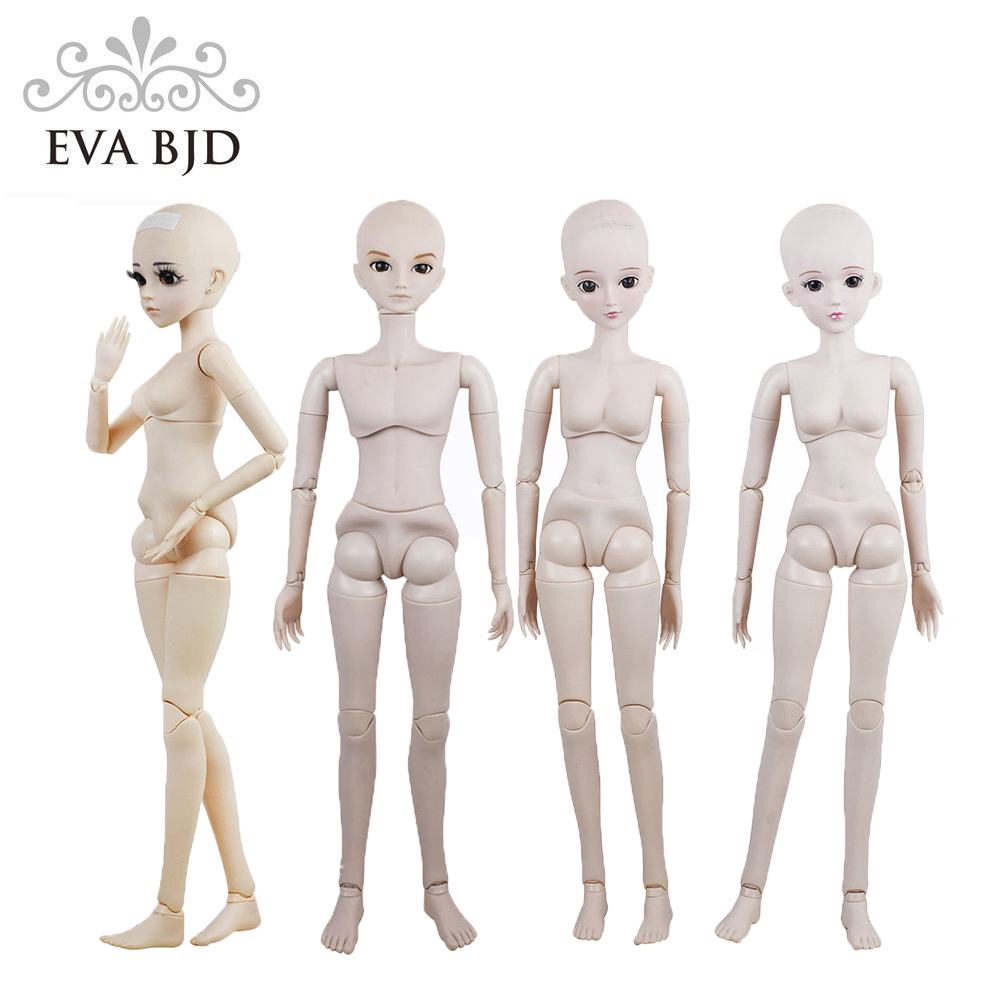 22 Male Female Naked Doll 22 inch Nude 1 3 SD BJD Doll Toy Figure Basic
