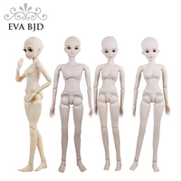 22 Male Female Naked Doll 22 inch Nude 1/3 SD BJD Doll Toy Figure Basic Makeup Clean Pad Ball Joint Doll Making