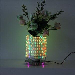 Image 2 - Светодиодный RGB светильник Dream Circle, DIY Kit, модуль музыкального спектра 8х32, электронный Точечный светильник, забавный светодиодный светильник, электронная матрица DIY