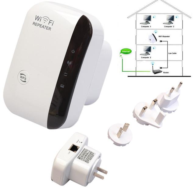 Binmer Calidad Superior 300 M Wireless WIFI Amplificador de La Señal Del Repetidor AP Router A Través de Paredes SEPT1