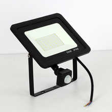 [LTOON]10W 20W 30W 50W 100W Led Flood Light With Adjustable PIR Sensor SMD 2835 Floodlights Outdoor Lighting For Street Square