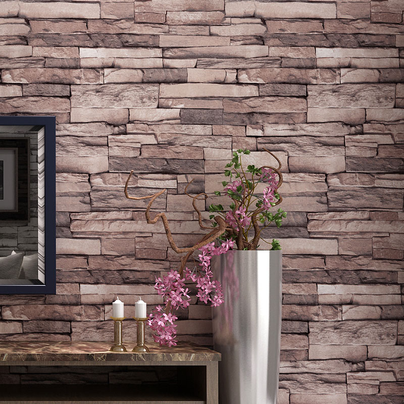 3D PVC Embossed Waterproof Brick Wall Paper Rolls Cafe Restaurant Dining Living Room Wall Covering Vinyl Wallpaper Home Decor color brick stone 3d pvc embossed wallpaper modern bedroom living room tv background home decor wall paper wall covering rolls