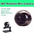 SQ9 Инфракрасного Ночного Видения Камеры Mini Motion Датчик Обнаружения 360 Градусов Вращения Зажим Для Ношения на Теле Камеры Круглой Формы Мини камера