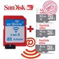 100% original adaptador ezshare wifi sem fio + sandisk ultra 16 gb 32 gb 8 gb class10 micro sd sem fio wi-fi tf cartão microsd