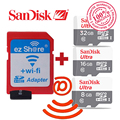 100% original ezshare Wireless wifi adapter+Sandisk Ultra 16gb 32gb 8gb class10  micro sd wifi wireless TF MicroSD Card