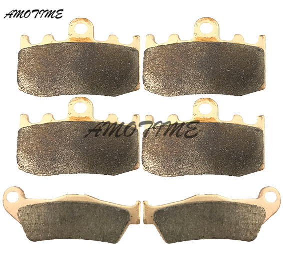 Motorcycle Parts Copper Based Sintered Motor Front & Rear Brake Pads For Bmw K1200S 2005-2008 R1200GS 2002-2013 R1200RT R1200ST sintered copper motorcycle parts fa252 front brake pads for yamaha fzs 600 fazer 98 03