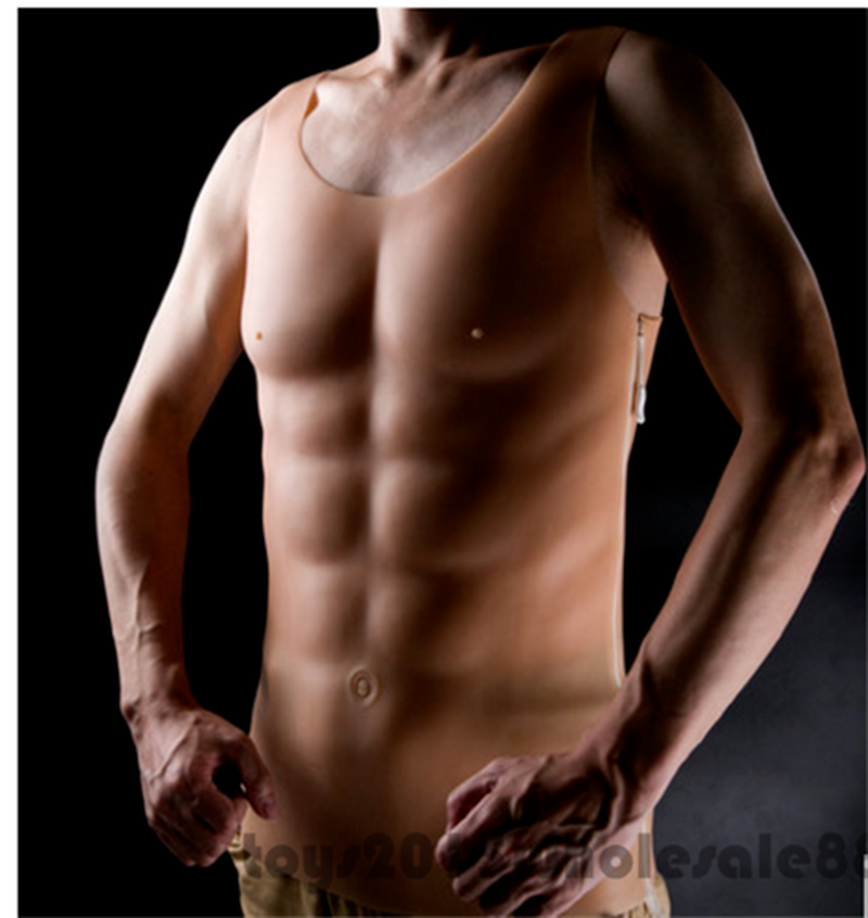 Poitrine bossue Muscle pour boxe entrainement homme Silicone faux poitrine Pecloralis cosplay - 6