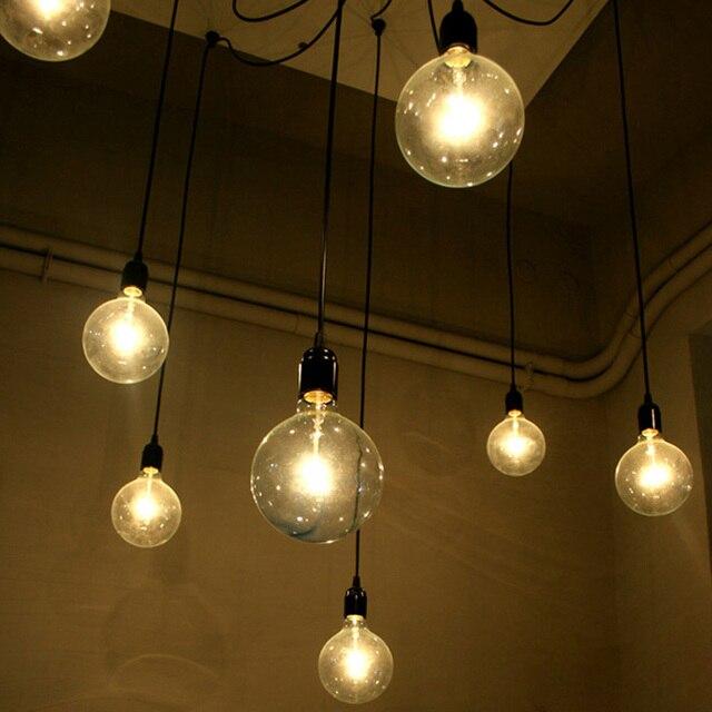 e27 fitting lamphouder voor thuis diy hanger lamp licht lampen vintage stijl meerdere lampen ikea lange - Lampen Ikea
