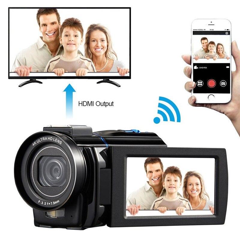 4 К Ultra HD 30 0 МП цифровая видеокамера Камера видеокамеры 3 &quotсенсорный экран 0.39x