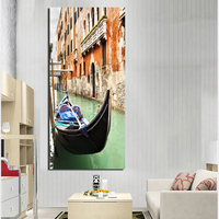 Frameless Venice Night Landscape Painting By Numbers Europe Abstract Canvas Painting For Living Room FA376