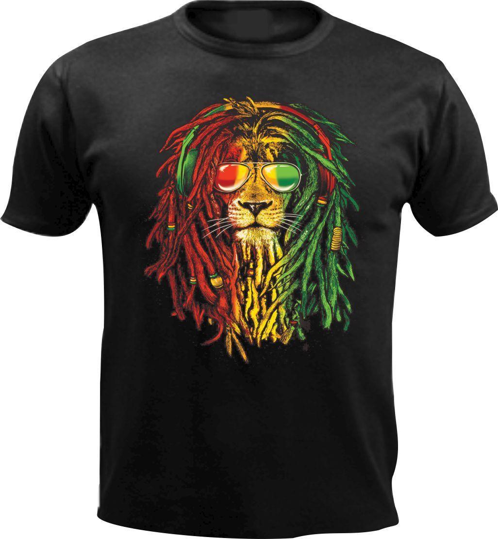 Christmas Rap Music.Us 12 15 13 Off Rasta Reggae Lion Animal Rap Music Men T Shirt Weed Christmas Gift Jamaica Xmas Cool Casual Pride T Shirt Men Unisex New Tshirt In
