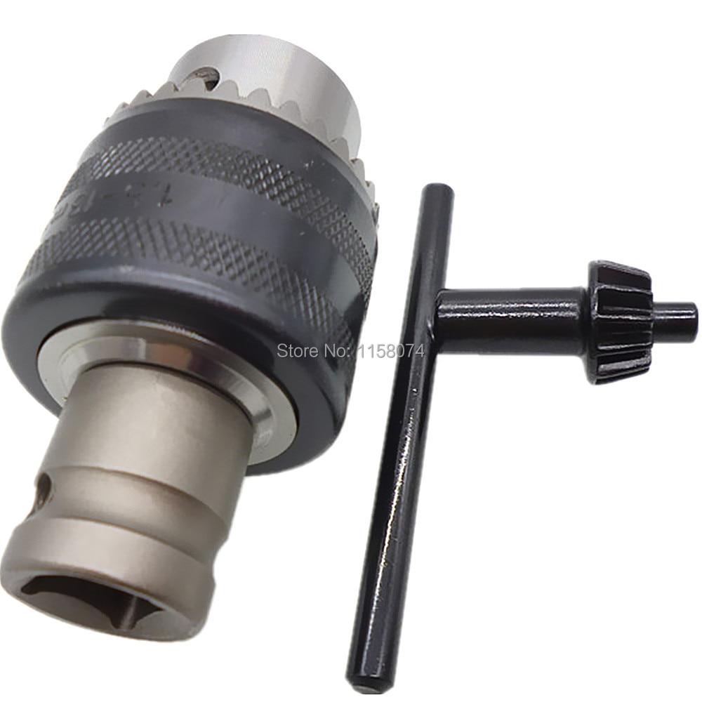 """13mm 1//2/"""" Unf Thread Key Type Drill Chuck Keyed Drill Chuck W// 1//2/"""" Socket Shaft"""