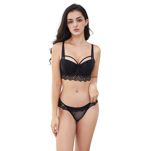 Image 2 - Varsbaby New Sexy Lace Floral Gather Underwear Underwire Push Up Bra Sets For Lady