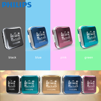 PHILIPS Original Mini MP3 Player With Digital Voice Recorderand FM Radio Funtion Five Colors Red Blue