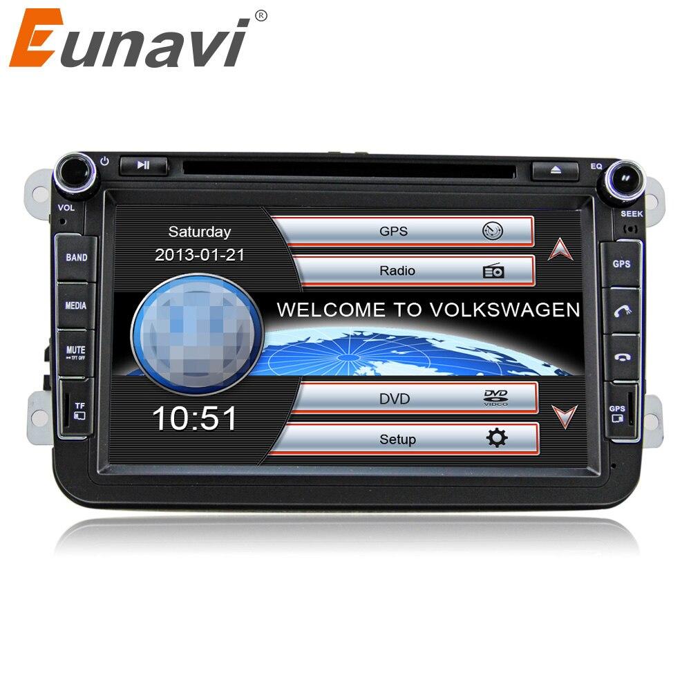 Eunavi 2Din 8 ''Voiture DVD Radio GPS Lecteur de Navigation Pour VW Passat CC Polo DE GOLF 5 6 Touran EOS t5 Sharan Jetta Tiguan caméra Libre