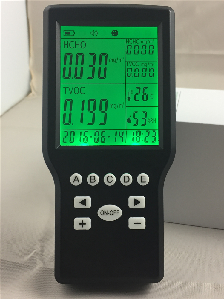 Free shipping household formaldehyde detector TVOC monitor detector with Temperature humidity