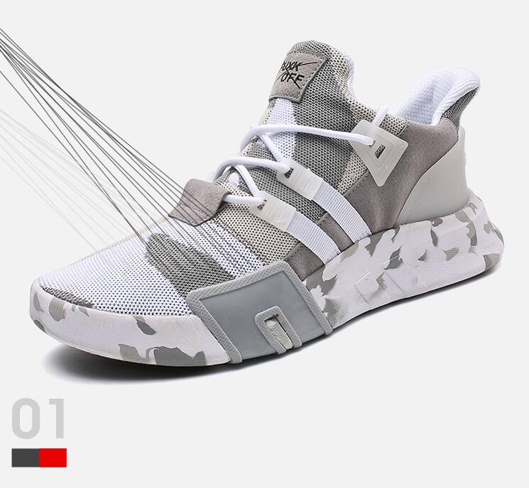 Men 39 s summer breathable ins super fire shoes tide shoes male Korean trend wild sports small white shoes old shoes sneakers in Running Shoes from Sports amp Entertainment