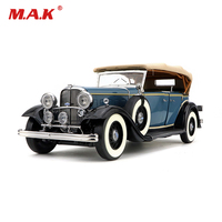 Collectible Car Model 1/18 Alloy Diecast 1932 Ford Lincoln Classic KB Car Gifts Truck Model Toys Blue/Red for Children Kid Gift
