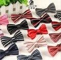 Новые 2016 детей мода полиэстер шелковый галстук в полоску галстуки бабочка шейный платок 19 стилей , доступных бесплатная доставка LJ-ET