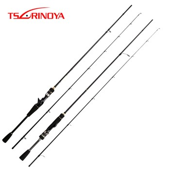 TSURINOYA NEW MYSTERY 1.82m 1.95m Spinning /Casting Fishing Rod UL/L 2 Section Fishing Rod FUJI Accessories Pesca Tackle Stick