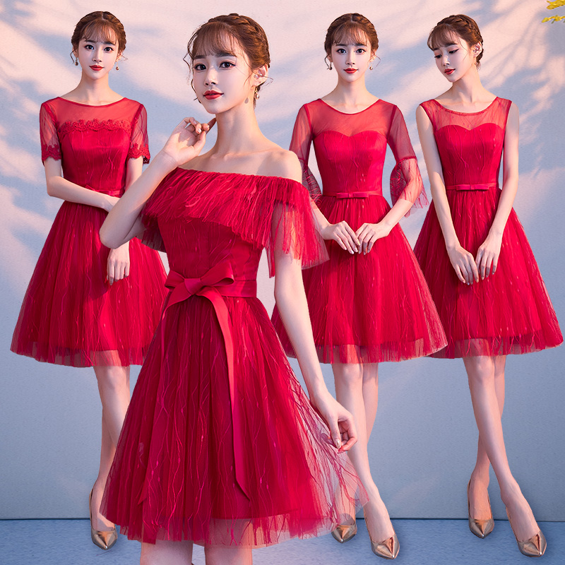 2018new stock plus size women pregnant wedding party   Bridesmaid     Dresses   backless lace sexy romantic A line red   dresses   abe520178