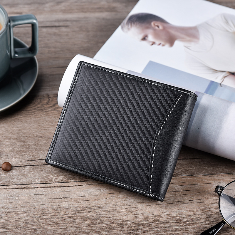 High Quality Classic Style Wallet Genuine Leather Men Wallets Short Male Purse Card Holder Wallet Men Fashion High Quality in Wallets from Luggage Bags
