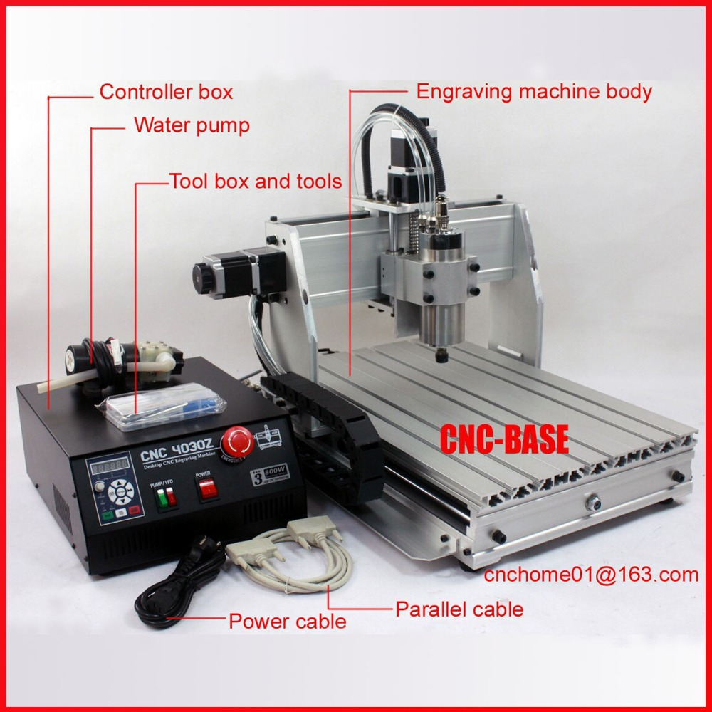 New upgrade 3040 CNC router  800W spindle + 1.5KW invertor cnc engraving milling machine / cnc engraver desktop machine eur free tax cnc 6040z frame of engraving and milling machine for diy cnc router