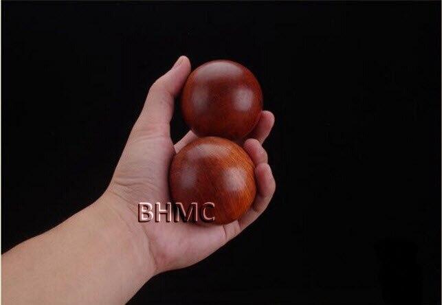 2pcs Vietnam Large Rosewood antistress hand massage wood ball massager Acupressure Lower bloodpressure promote blood circulate