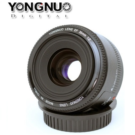 New Arrival! Original YONGNUO Lens YN 35mm f/2 Large Aperture Wide-angle Auto Focus Lens for Canon EOS DSLR Camera
