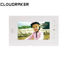 CLOUDRAKER 7 дюймов внутренний монитор видео дверной звонок Домофон Система разблокировки настенного монтажа