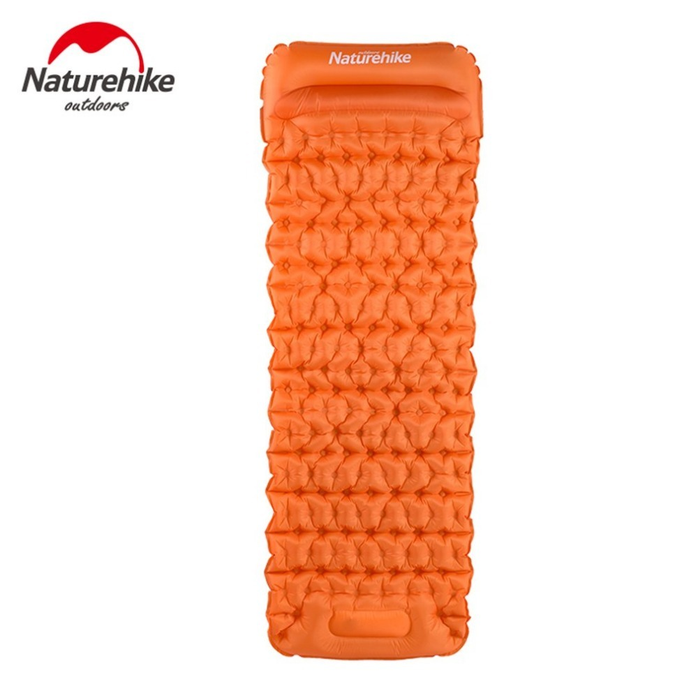 Naturehike TPU Men Women Sleeping Bag Inflatable Cushion Mat Sleeping Pad Fast Filling Air Mattress Picnic Camping Mat+Pillow naturehike sleeping pad fast filling air bag super light camping mat with pillow portable beach mat for rescue life cushion 550g